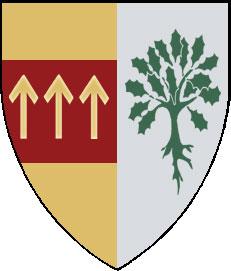 Alliansvapen för kung Angantyr av Arosia och drottning Astrid av Högmark