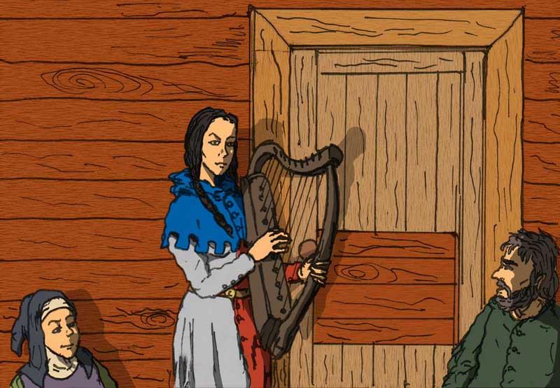 harpspelare
