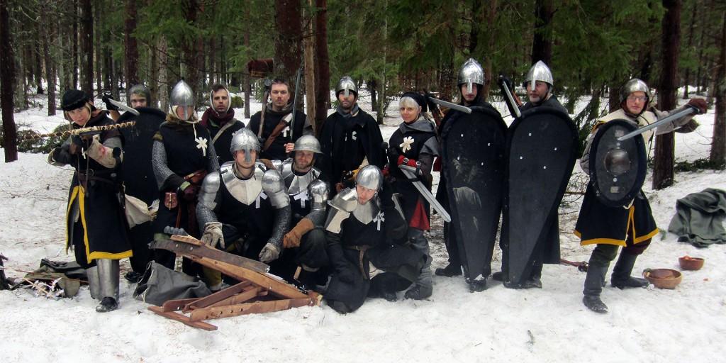 De Furstliga legionärerna som efter en serie skärmytslingar nedgjordes av den allierade truppen i Tolvmilaskogen. Foto: Theo Axner