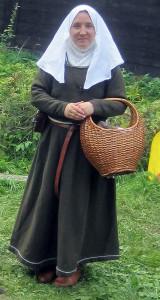 Moder Elarka Arnvidae, abbedissa vid Örnevalls kloster och en av ledarna för Nyckelns väktare.  Foto: Theo Axner, 2015