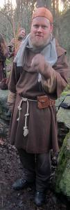 Broder Gottfried, en präst från Goldiga som lämnat sin margholiska tjänst och slutit sig till Drakfåglarna.  Foto: Theo Axner, 2014