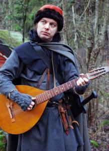 Odd Lycka, en musikalisk Drakfågel.  Foto: Sara Kånåhols, 2014