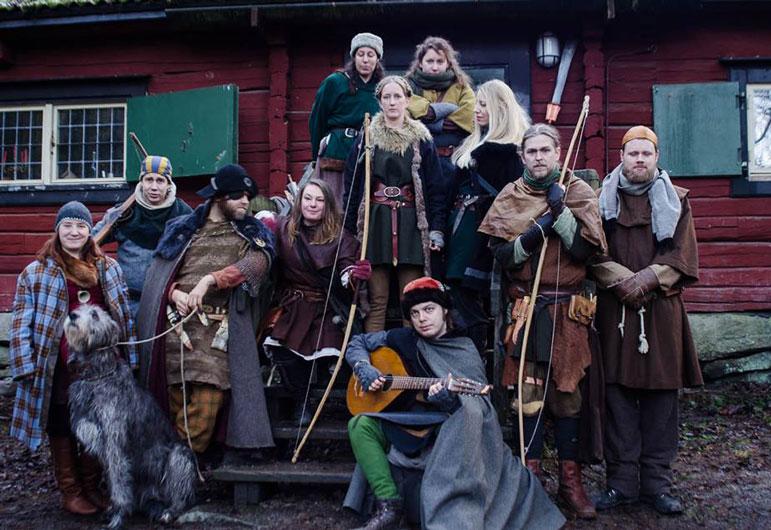 Blandade Drakfåglar, bl a från Arna Lagkvinnas stab. Foto: Cornelia Karlslund, 2014