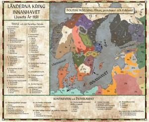 Länderna kring Innanhavet år 1150: Politisk indelning