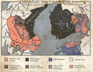 Krigsläget i Thule, hösten 1151