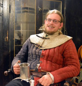 Riddar Birger Torasson Silverfors, befälhavare för de arosiska trupperna i Ravnsmark.  Foto: Camilla Mörn, 2016