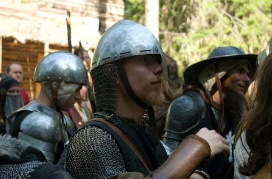 Tre Furstliga legionärer: korpral Antonius; legionär Siglar Raske; legionär Rodrigo.  Foto: Jan-Åke Steenberg