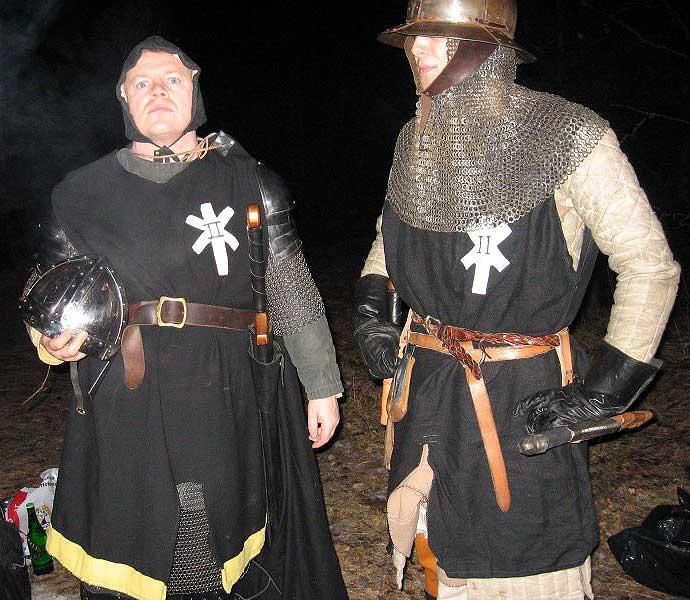 En korpral och en legionär i den Furstliga styrka som hotade Lyktgubben.  Foto: Karin Edman