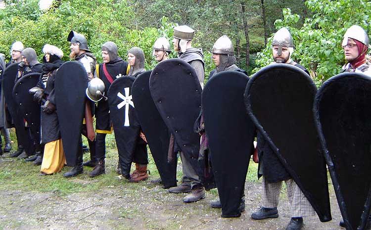 Några av de Furstliga legionärer som ingick i expeditionens eskort.  Foto: Susanna Torstensson
