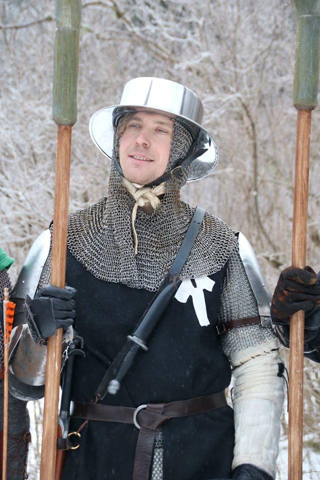 Legionär Atle, en av soldaterna som var inkvarterade på Hammargården. (Foto: Torbjörn Walberg 2017)