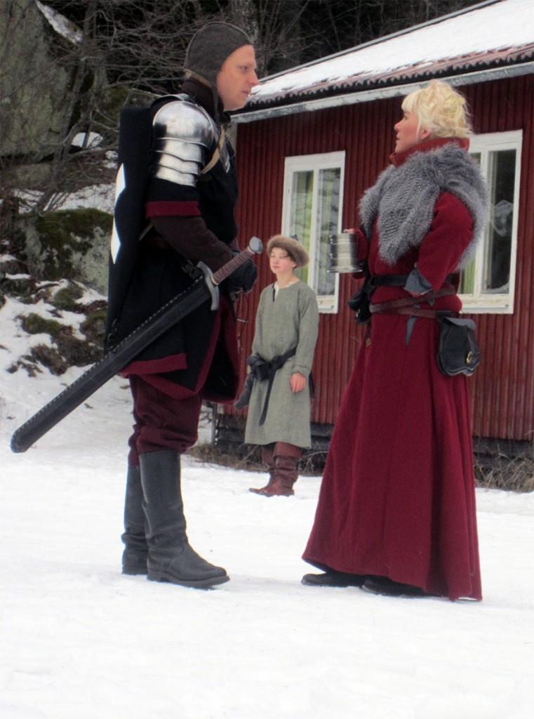 Överstelöjtnant Gerard de Foix, en officer i Svartstenslegionen, och fru Blanka Sebastiansdotter Gadd, tingslagsdomare i Ettingssjö. (Foto: Theo Axner, 2017)