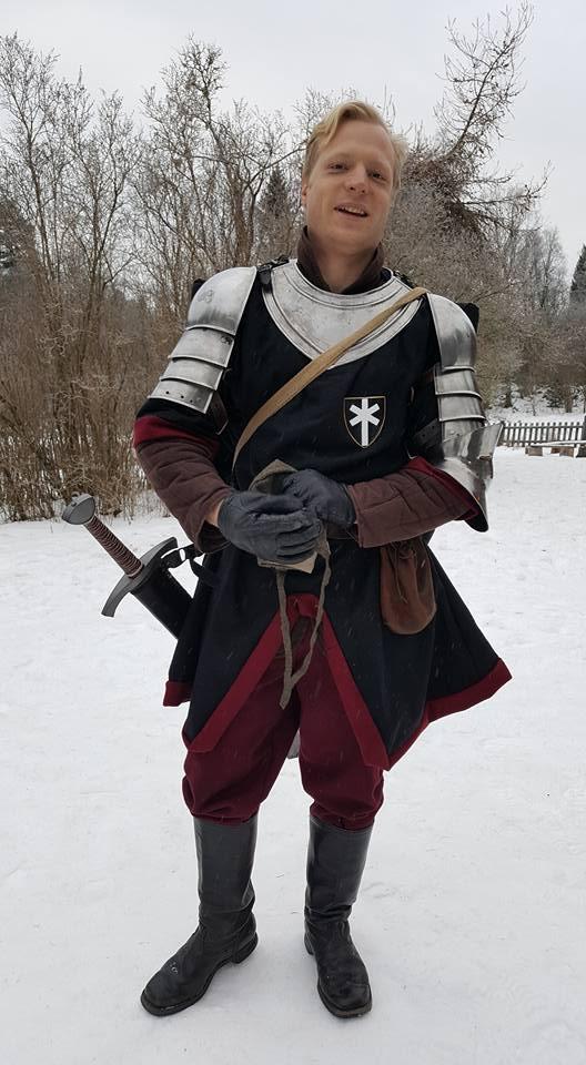 Överstelöjtnant Gerard de Foix, en officer i Svartstenslegionen. (Foto: Erika Westberg, 2017)
