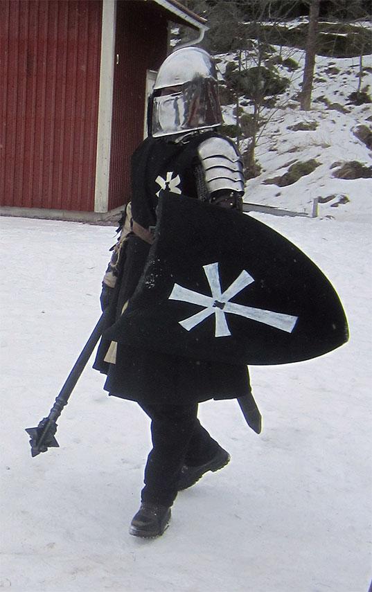 Legionär Menke, en elitsoldat ur Svartstenslegionen. (Foto: Theo Axner, 2017)
