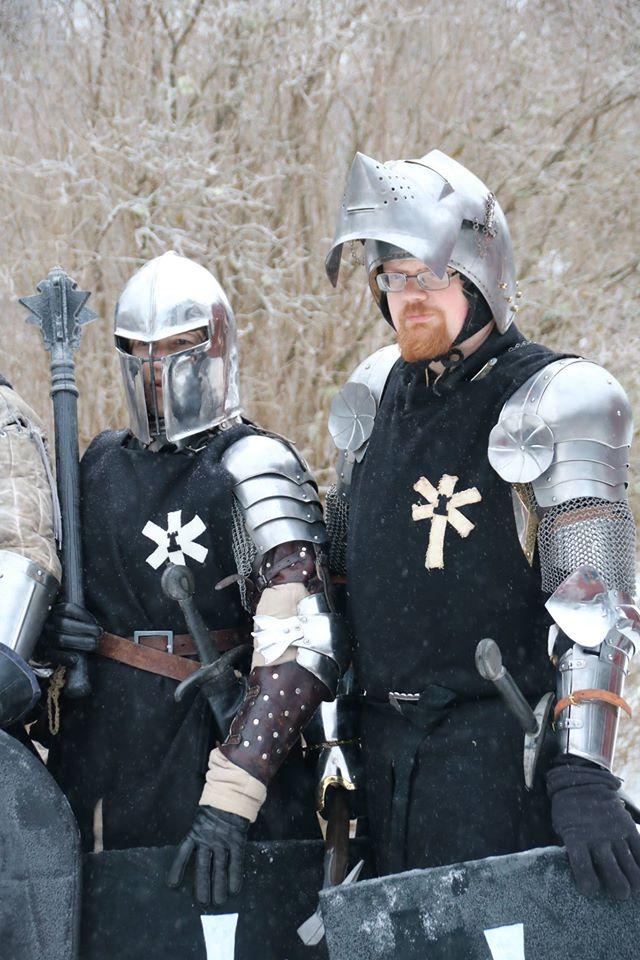 Legionär Menke och korpral Voss, två elitsoldater ur Svartstenslegionen. (Foto: Torbjörn Walberg, 2017)