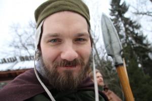 Spjäle Amundsson, en av Drakfåglarnas utsända. (Foto: Torbjörn Walberg, 2017)