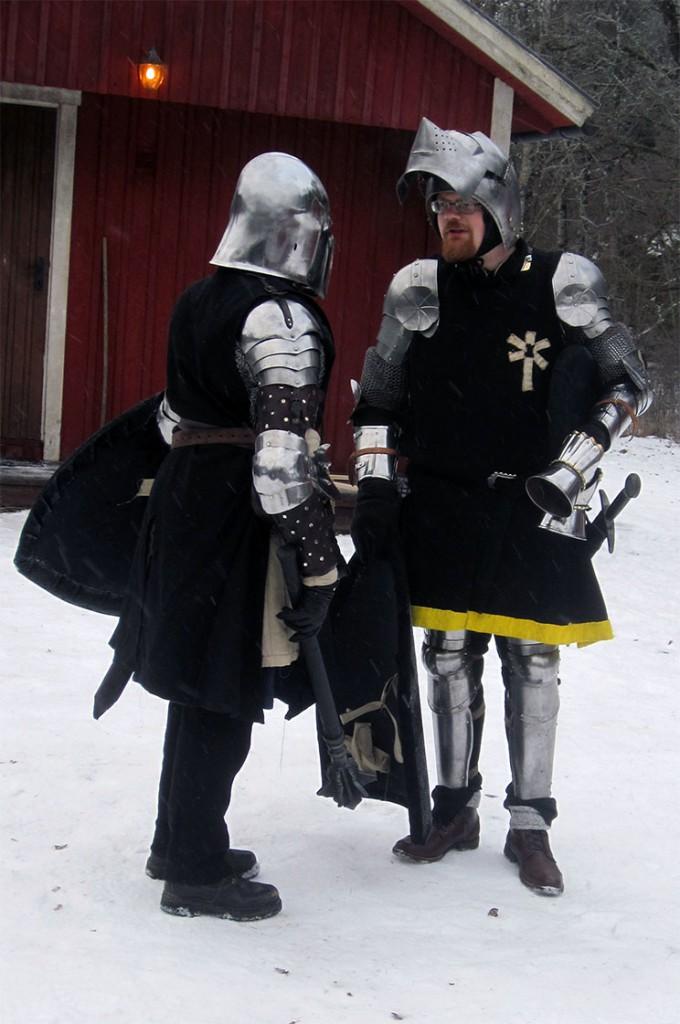 Legionär Menke och korpral Voss, Svartstenslegionen. (Foto: Theo Axner, 2017)