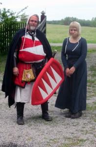Den Furstetrogne stormannen Magnus Gadd och hans tjänare Katja.  Foto: Theo Axner (2017)