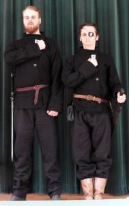 Löjtnant Gideon Vråk och major Morgan Garpe, två stabsofficerare i I Legionen.  Foto: Leif Eurén (2017)